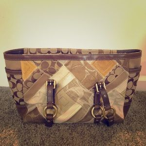 COACH Patchwork Signature Gallery Tote